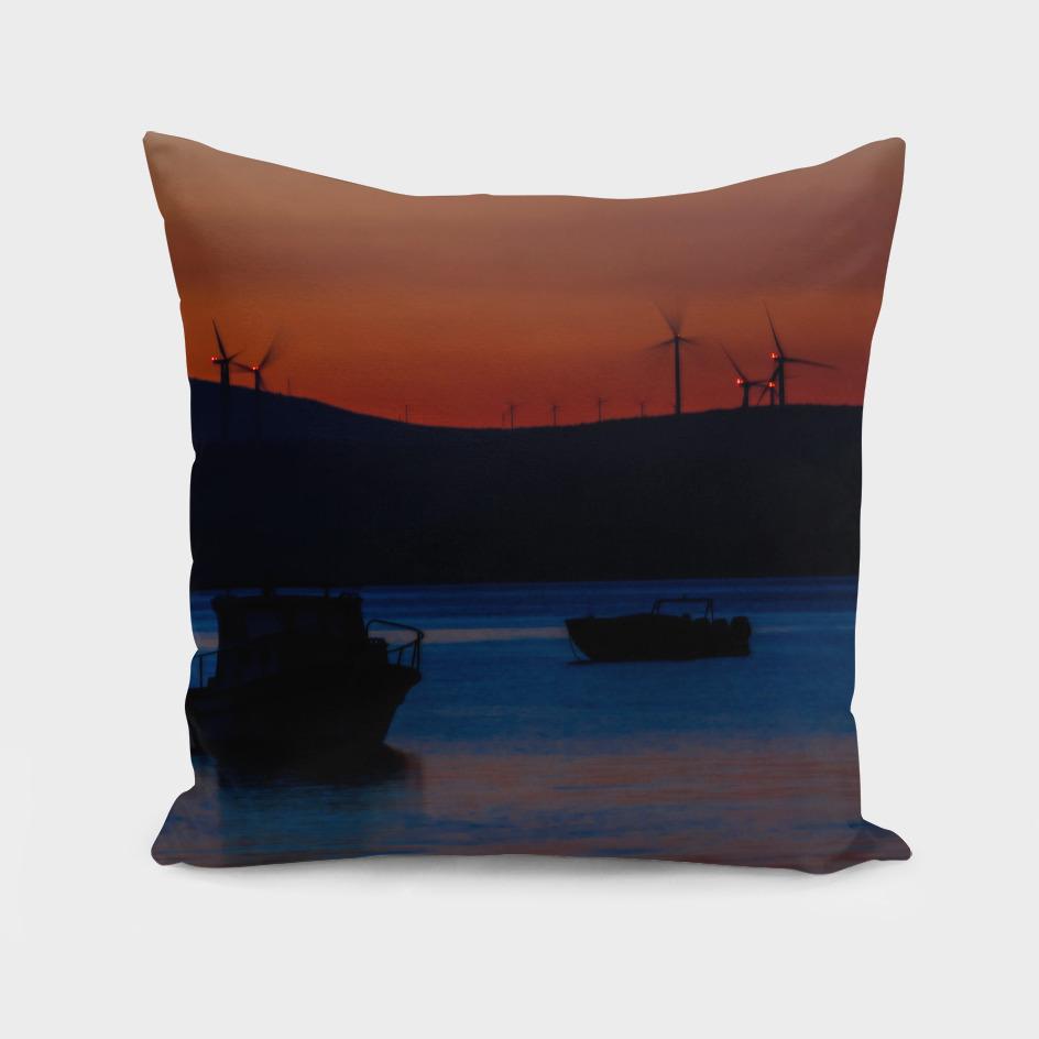 Sunset on the turkish aegean sea