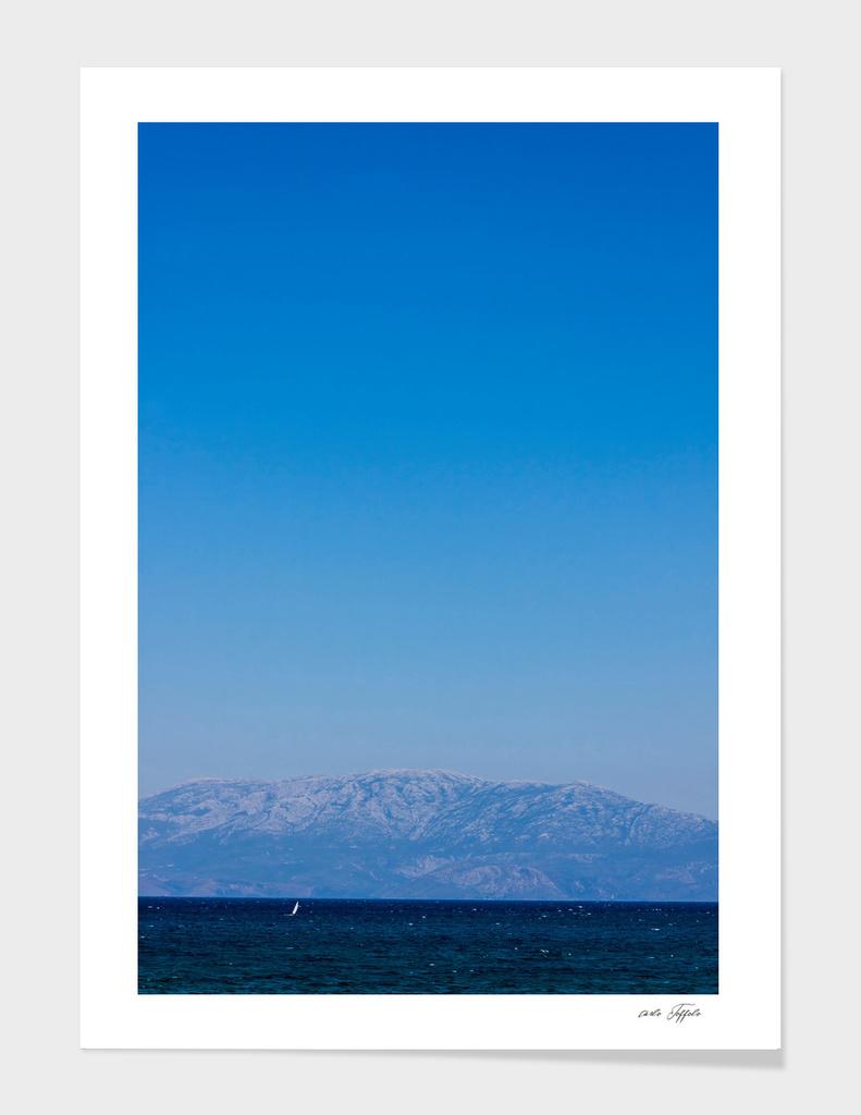 Blue sky on the blue turkish aegean sea