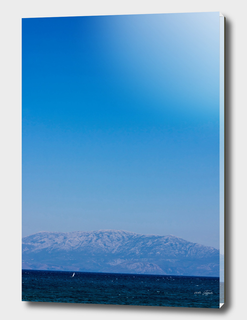 Blue sky on the blue turkish aegean sea