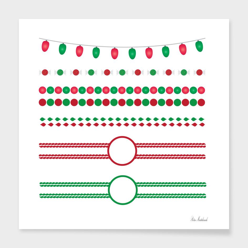 Christmas borders frames holiday