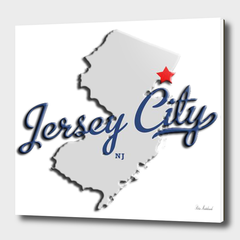 Map of Jersey city NJ