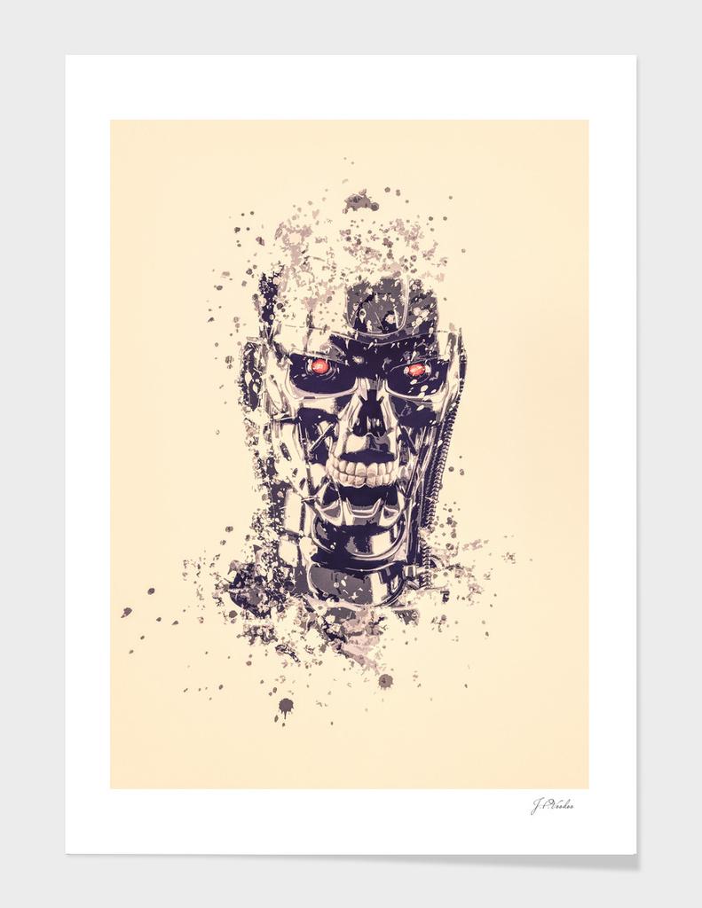 Terminator T800 splatter painting