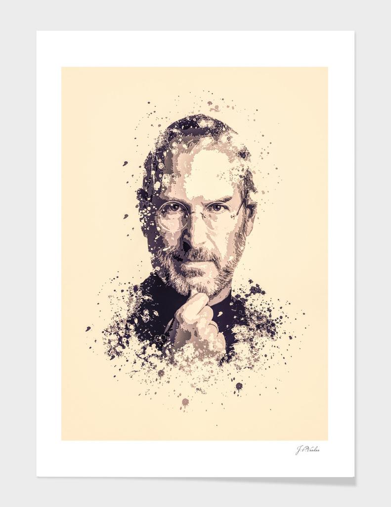 Steve Jobs splatter painting