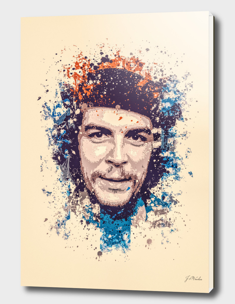 Che Guevara splatter painting