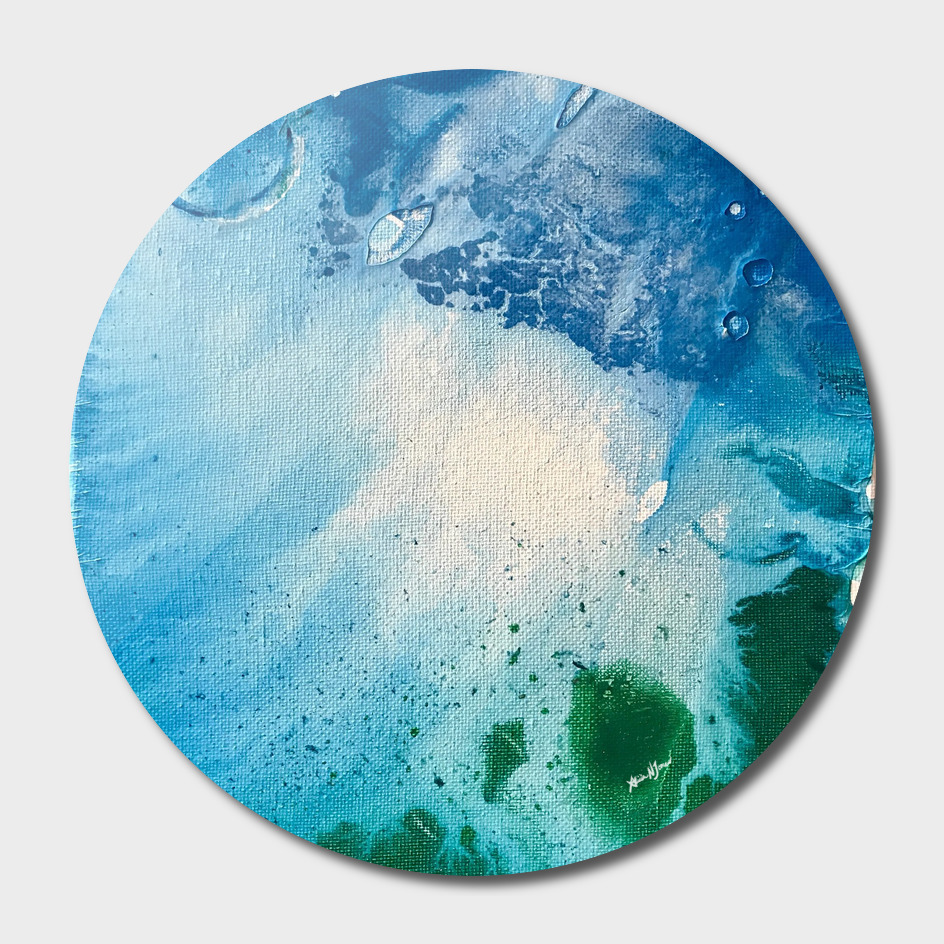 Environmental Blue and Green Painting # 7