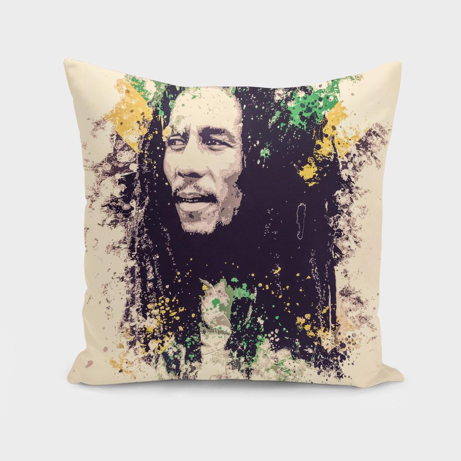 Bob Marley Splatter painting