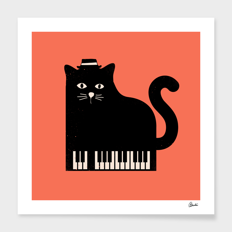 Cool Cat on Piano