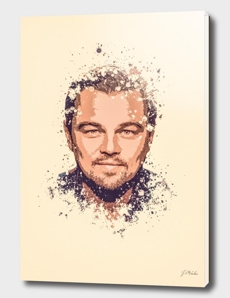 Leonardo DiCaprio splatter painting