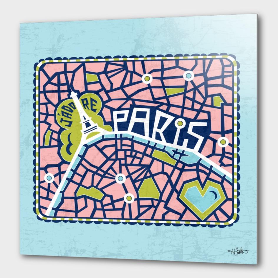 J'adore Paris Blue