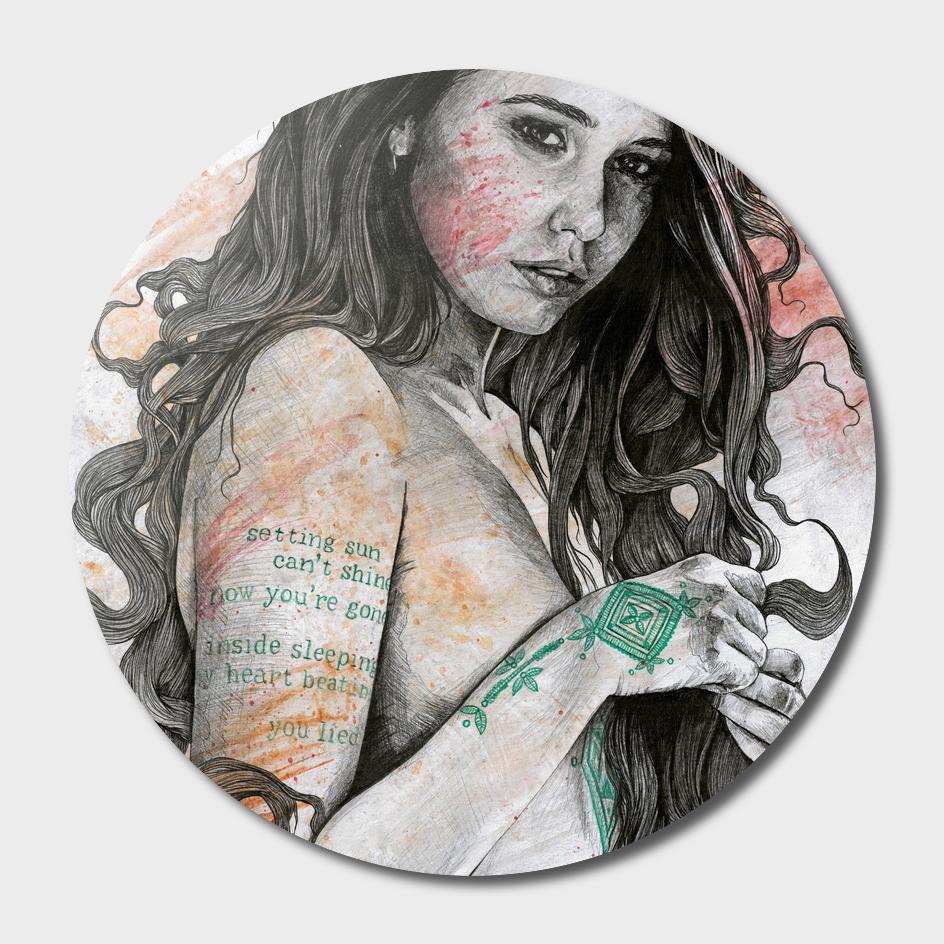 You Lied (nude girl with mandala tattoos)