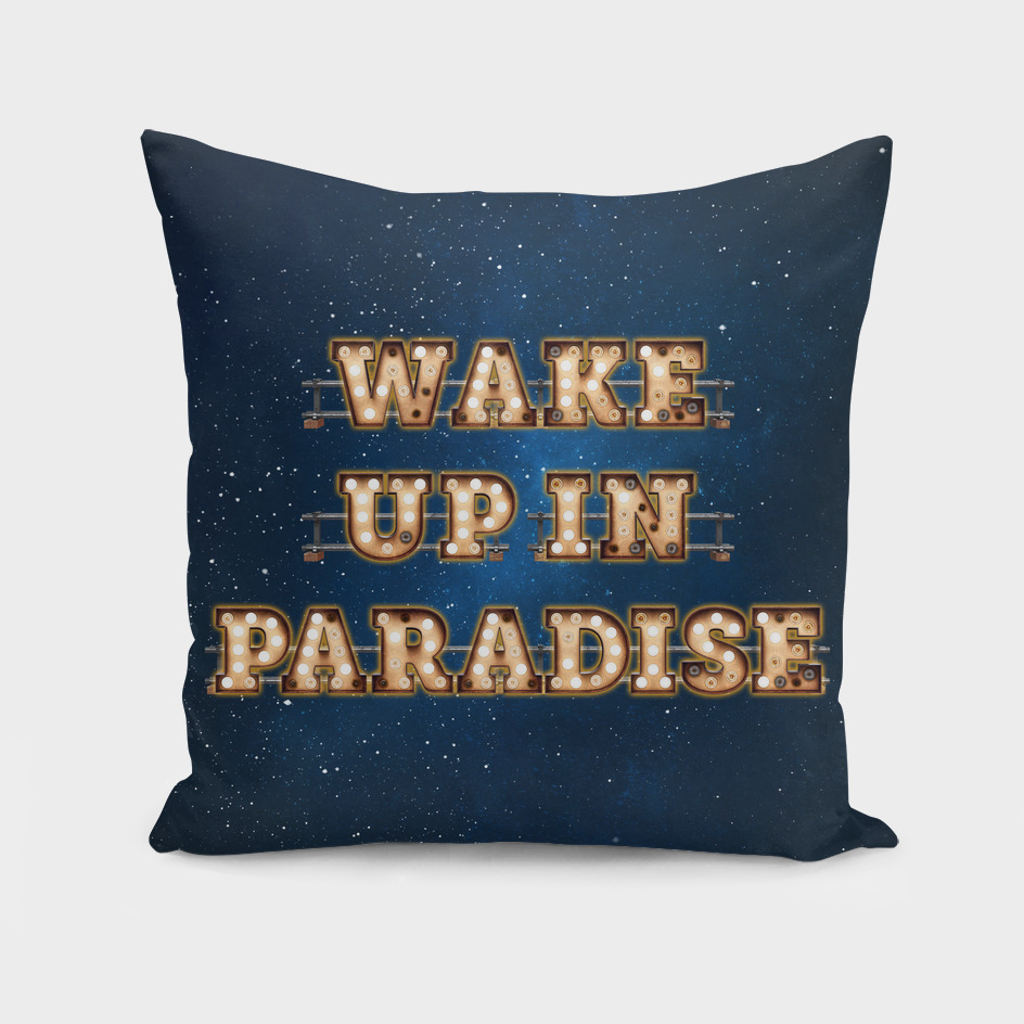 Wake up in Paradise -  Wall-Art for Hotel-Rooms
