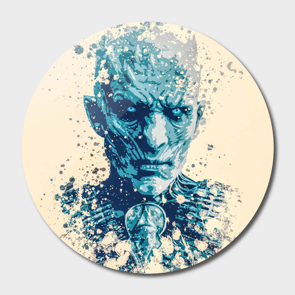 Night King, Game of Thrones splatter painting