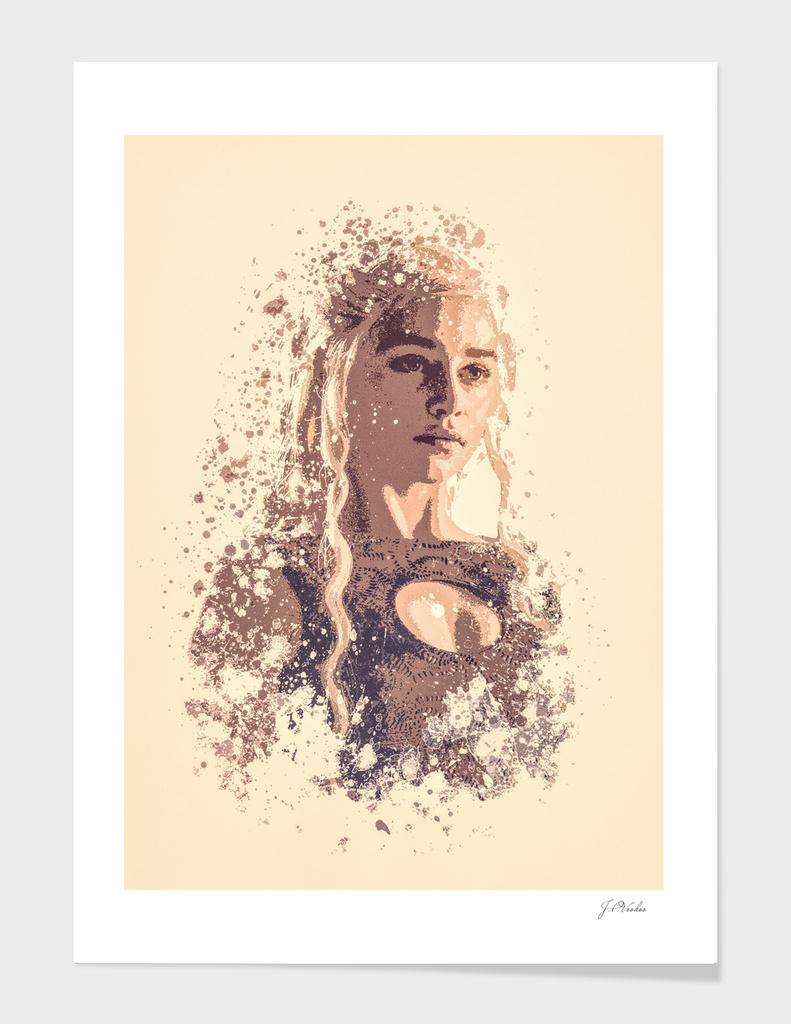 Emilia Clarke, Game Of Thrones splatter painting