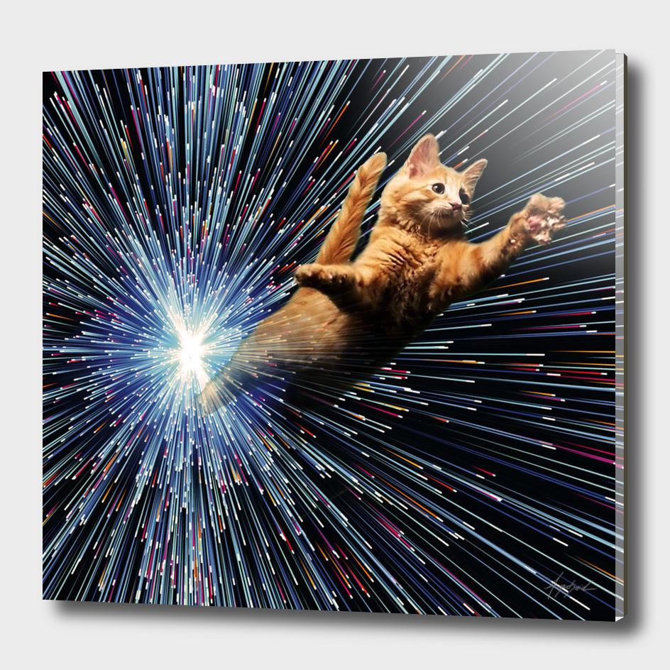 Cat Space vortex in galaxy attack speed of light