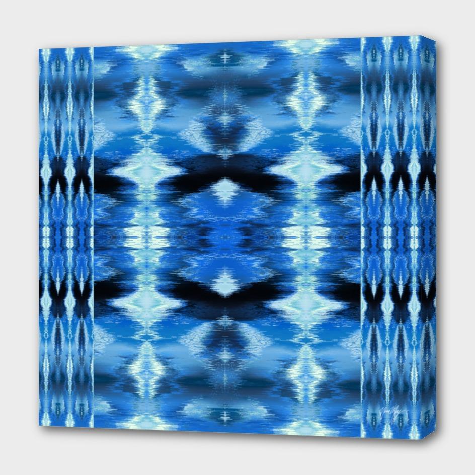 Watercolor Ikat Blue
