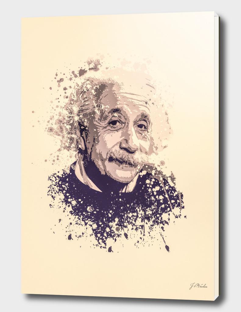 Albert Einstein splatter painting