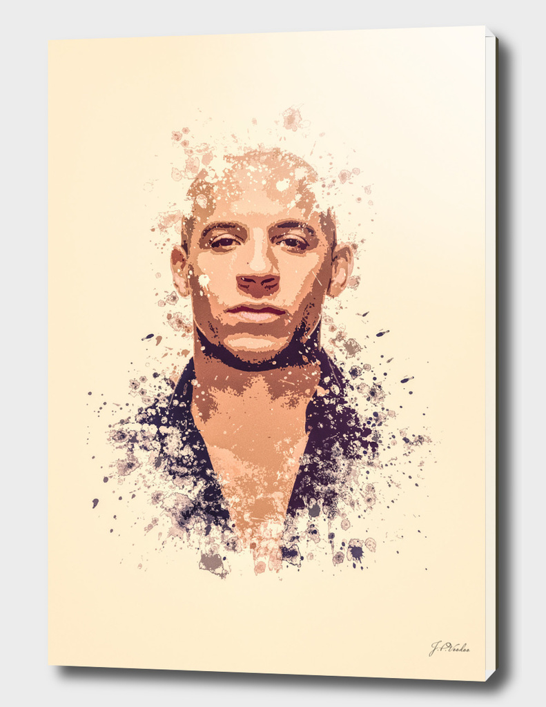 Vin Diesel splatter painting