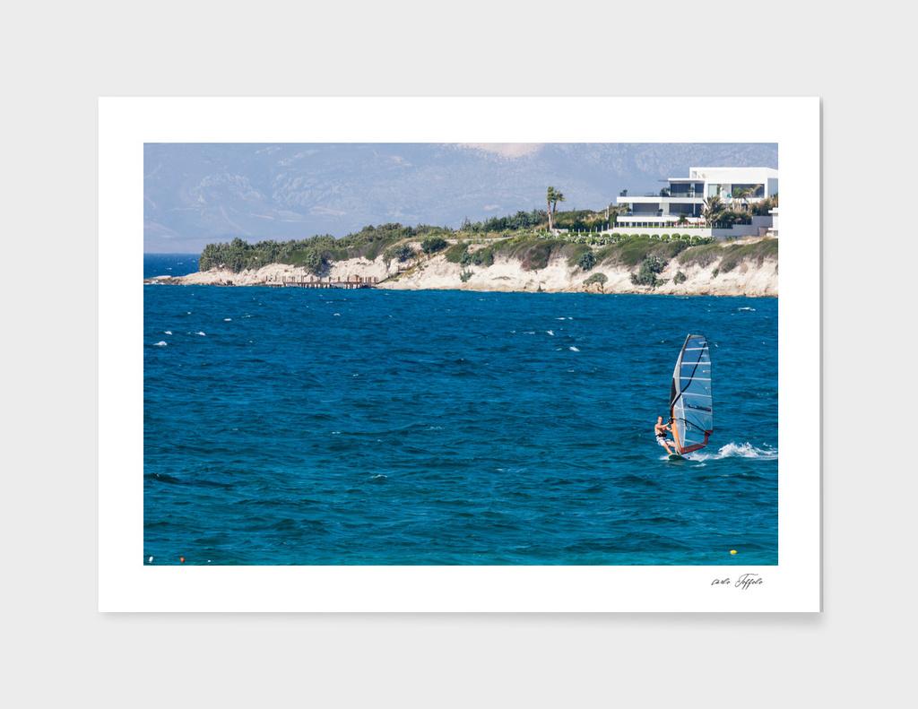 Wind surfing in Turkey