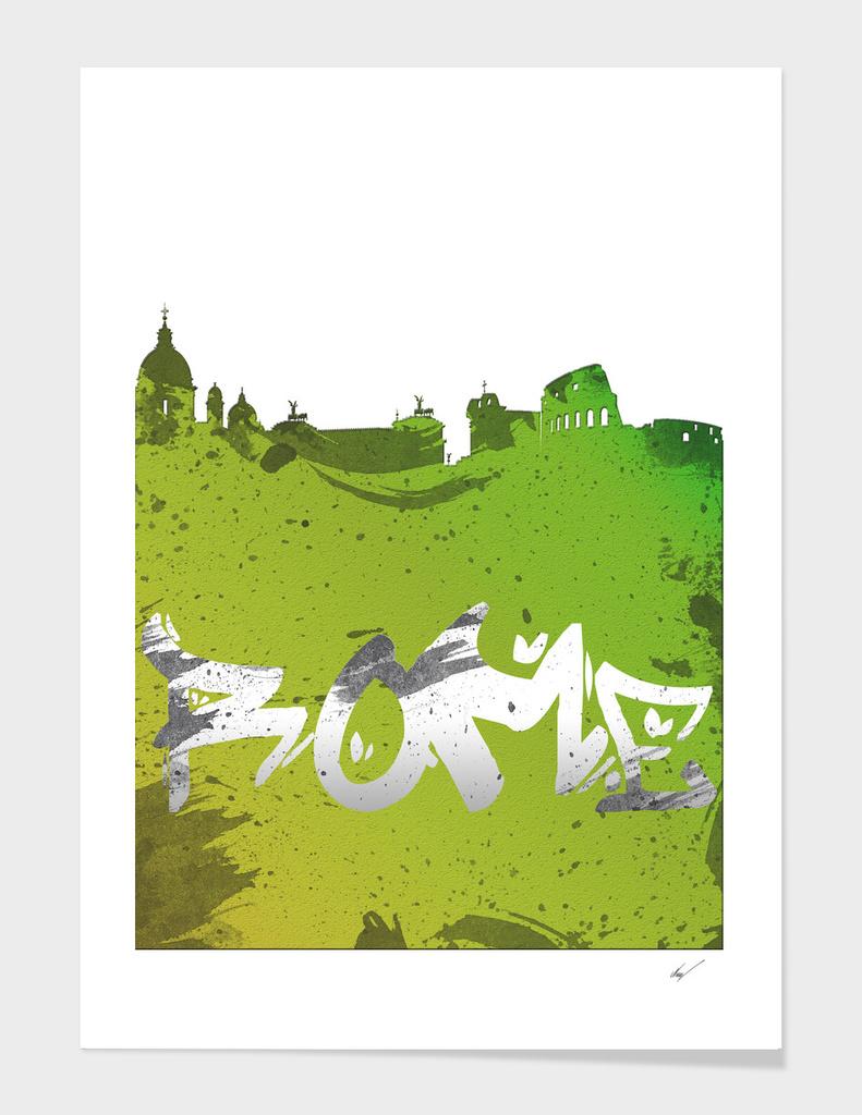 Rome Cityscape Silhouette