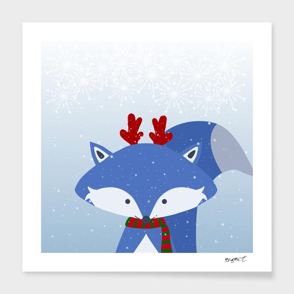Cute Fox Wintery Holiday Design