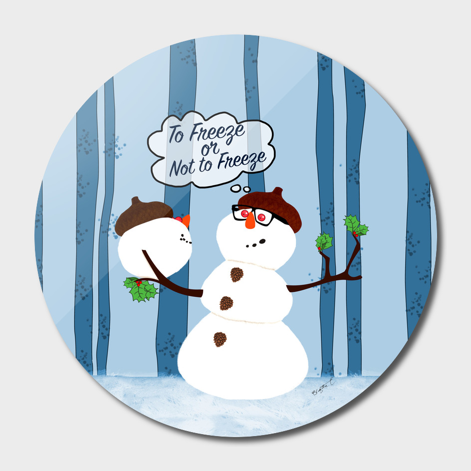 Funny Snowman Holiday Design