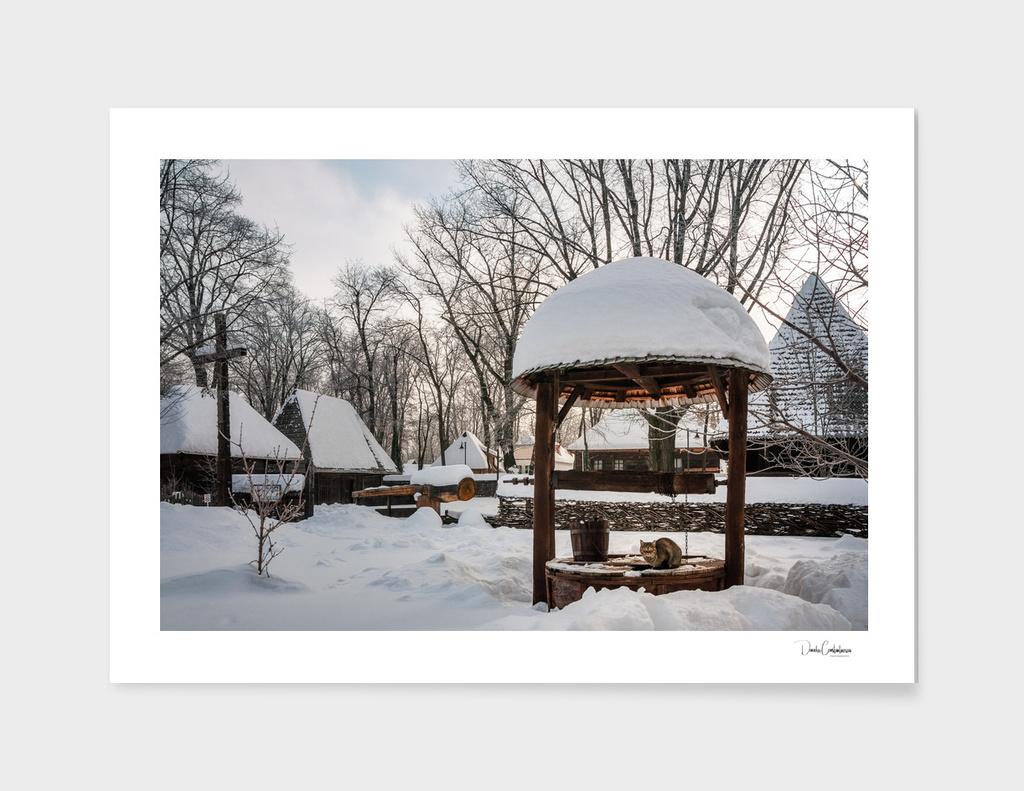 Pastoral winter scene