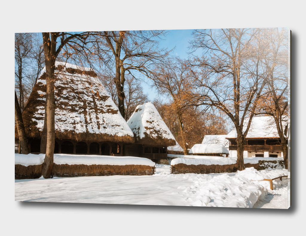 Season greetings from a picturesque Romanian village