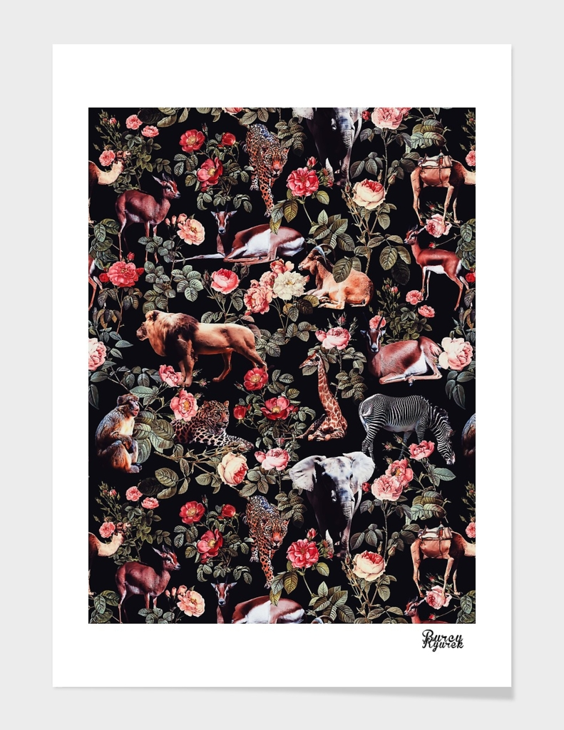 Animals and Floral Pattern