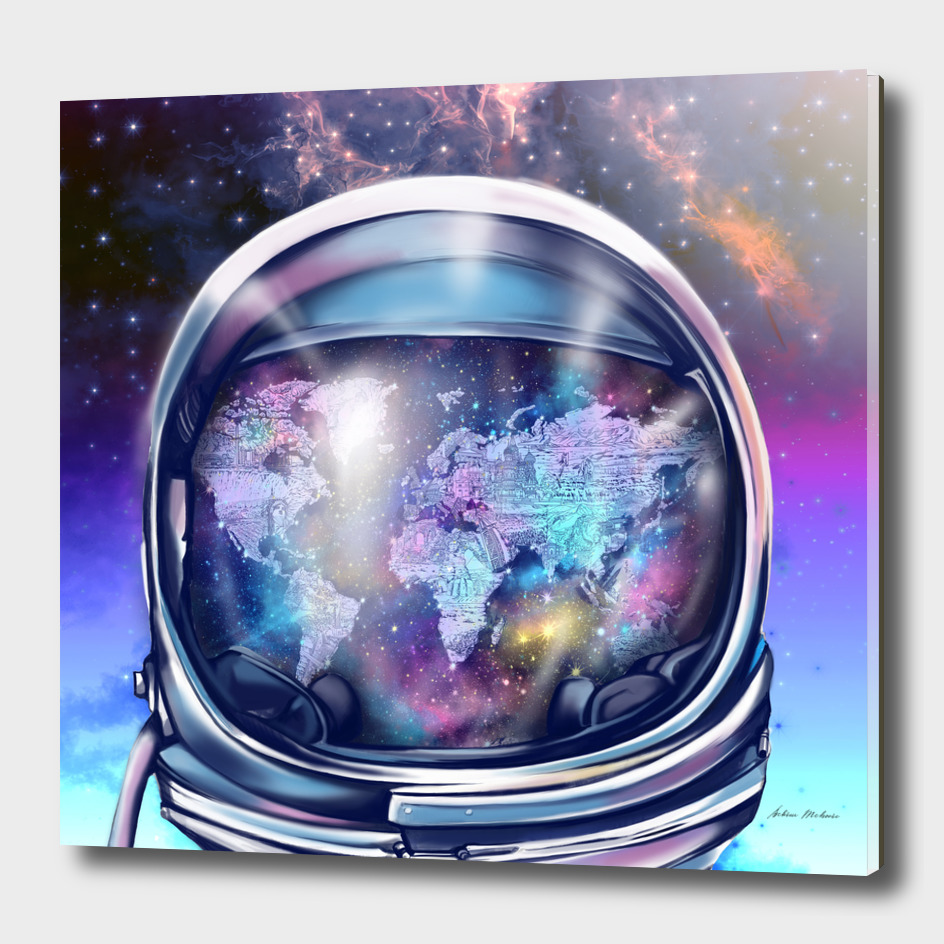 astronaut world map