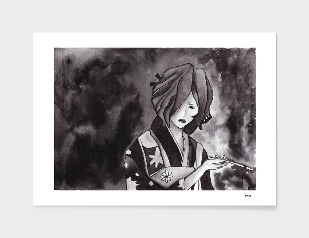 Hinoe - Ink Wash Painting (Fan Art)