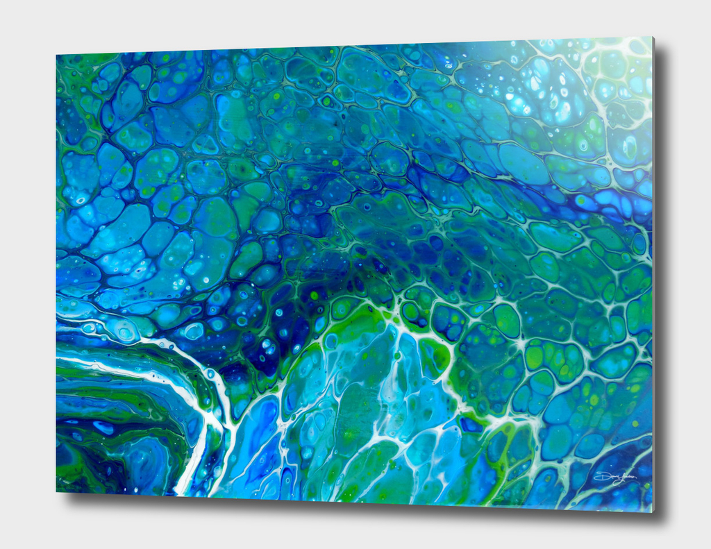 Section 4 of 5 from original Seafoam painting