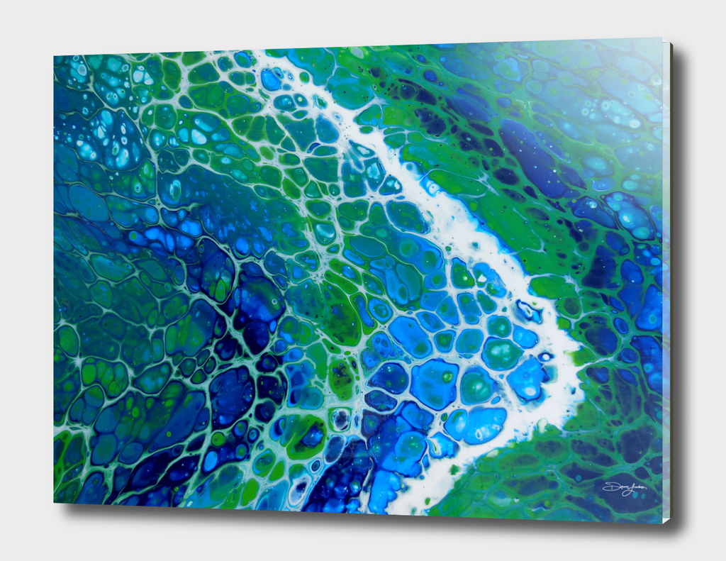 SEction 5  of 5 from the original Seafoam painting
