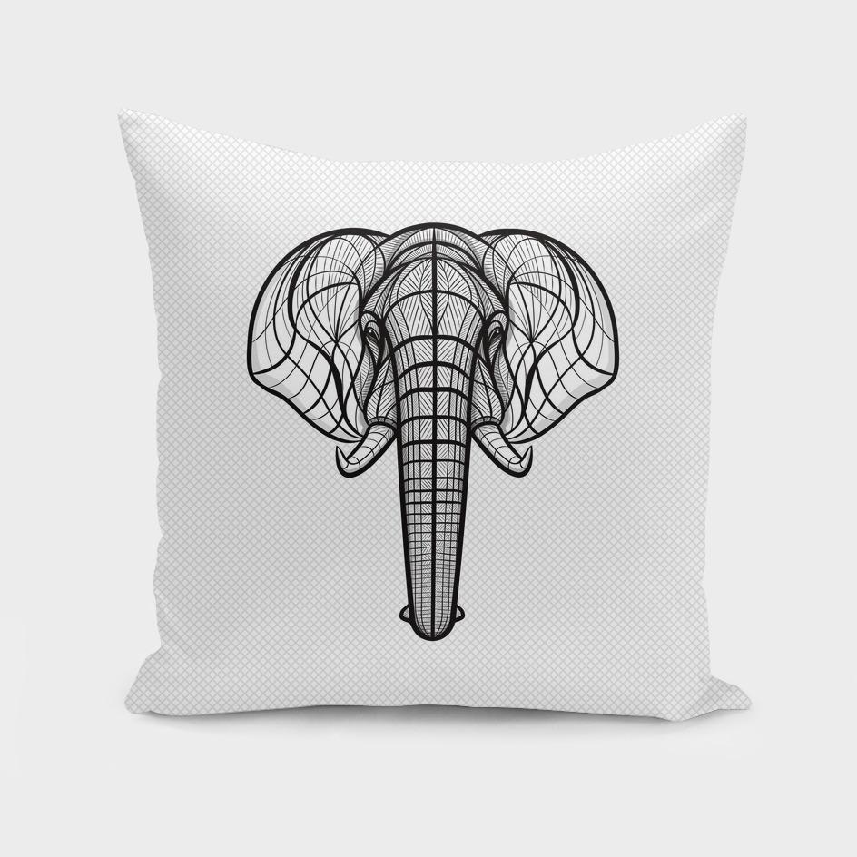 B&W African Elephant