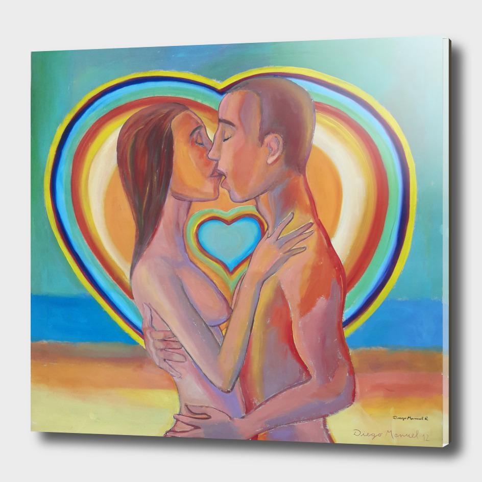 Beso enamorado