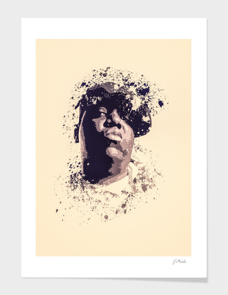 Notorious B.I.G splatter painting