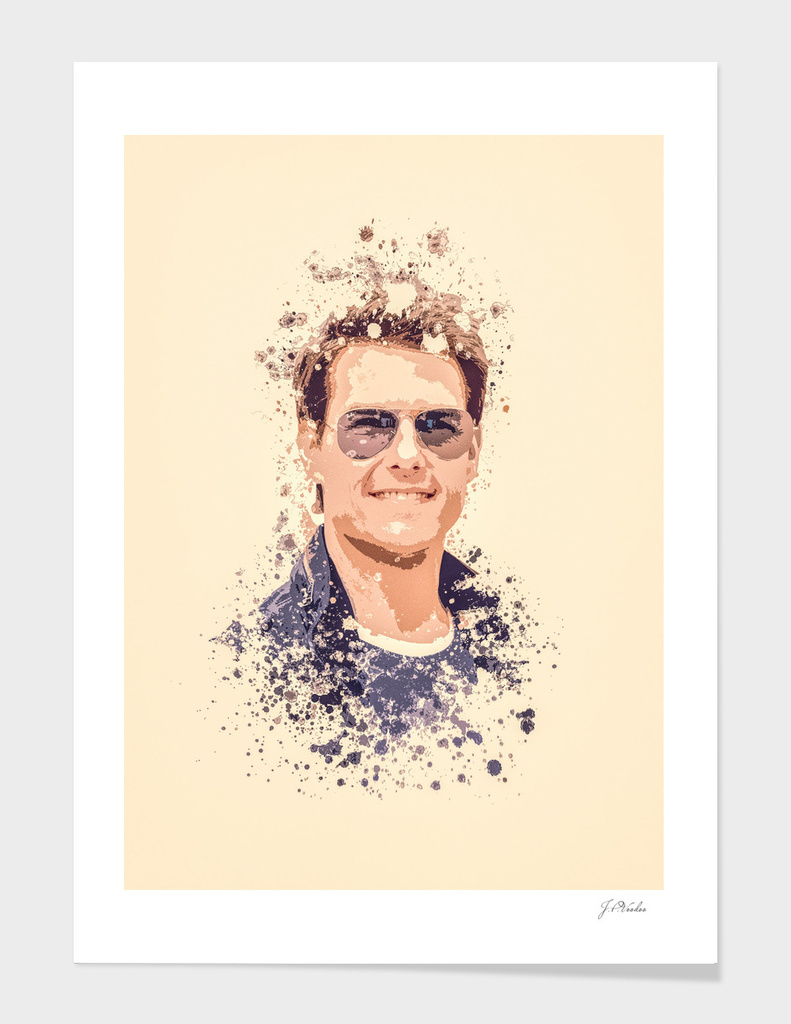 Tom Cruise splatter painting