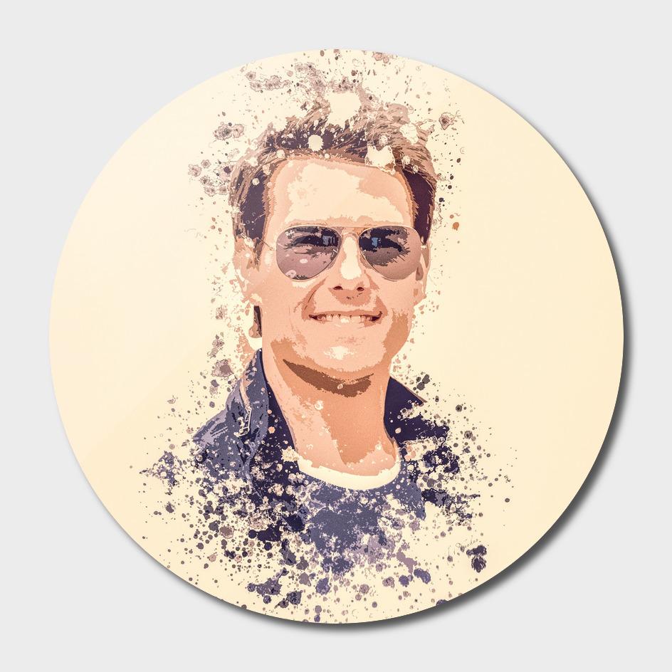 Tom Cruise splatter painting