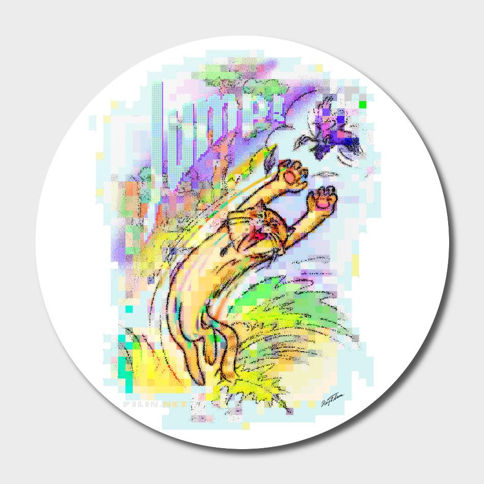 'Jump!' Poster/t-shirt design