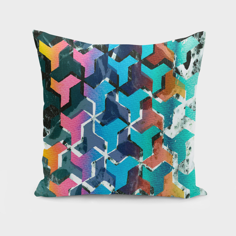 Colourful Geometry and Marble print