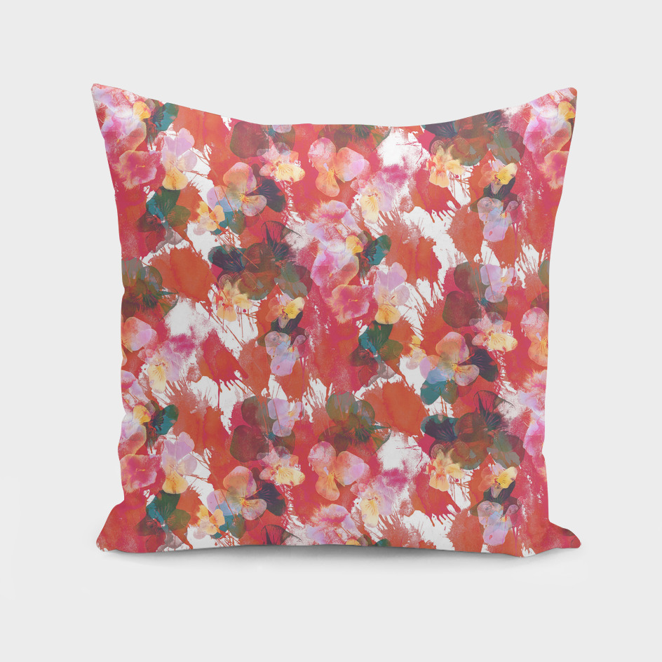 Splatter Red Pansies petal