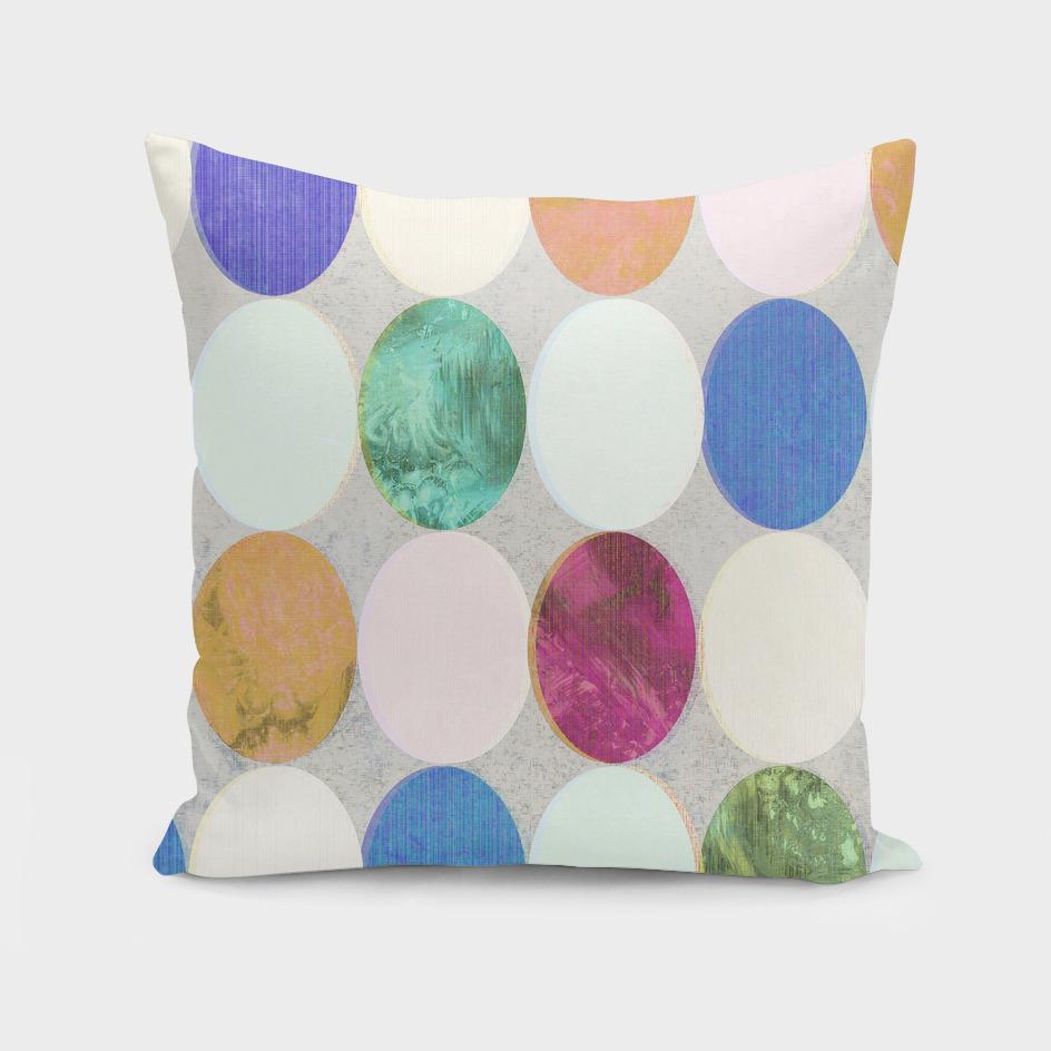 Textured Colourful Polka Dots