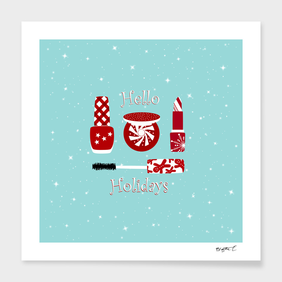 Super Cute Makeup Holiday Design