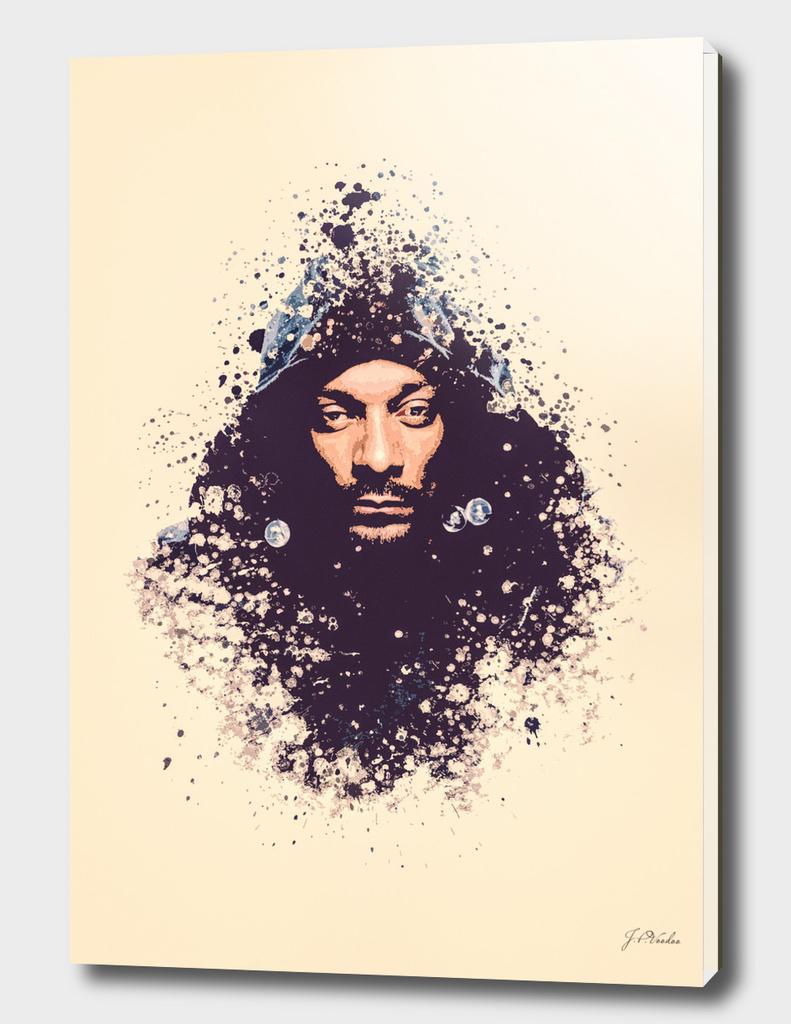 Snoop Dogg splatter painting