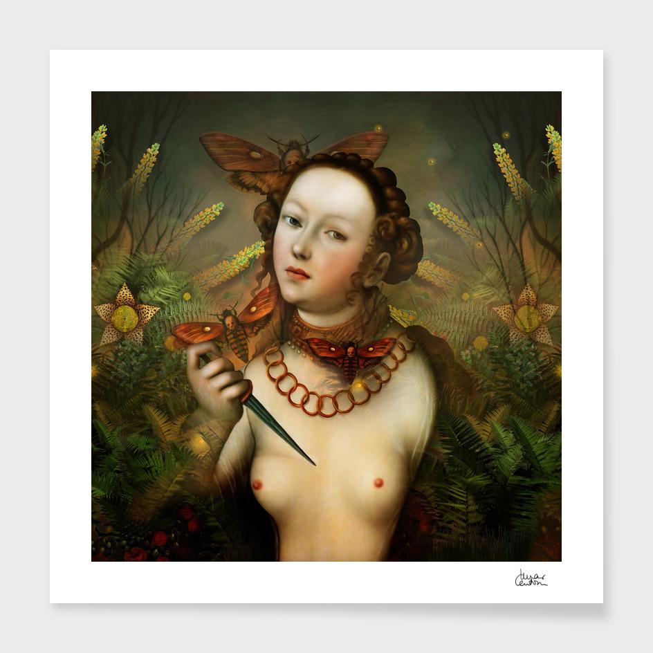 """Lucretia between Death Moths"""