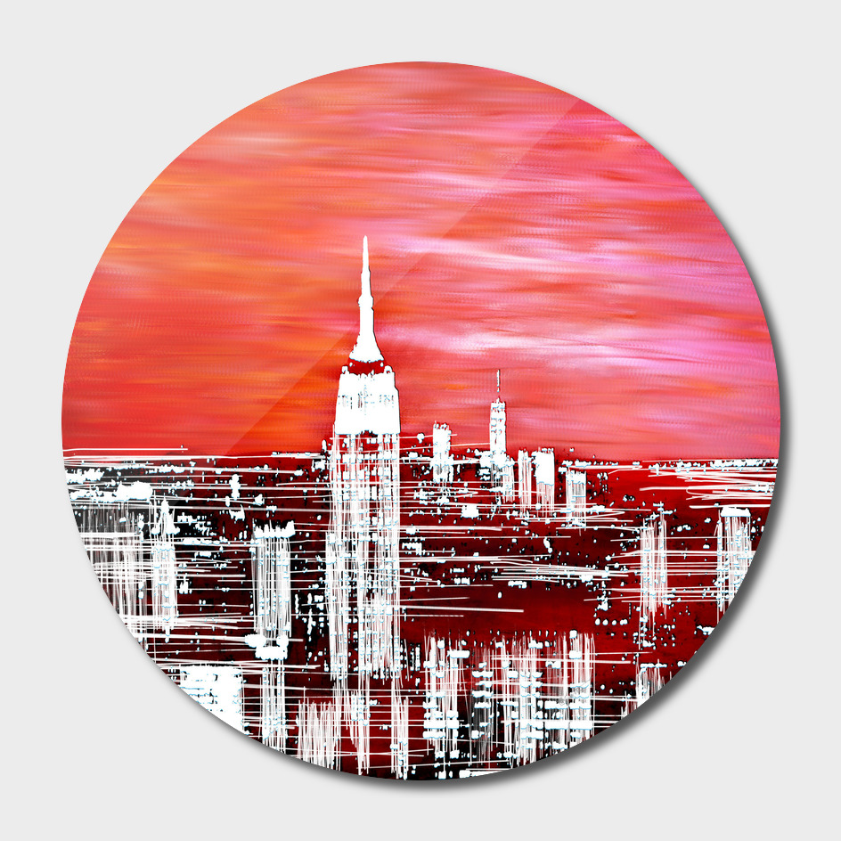 Abstract Red In The City Design
