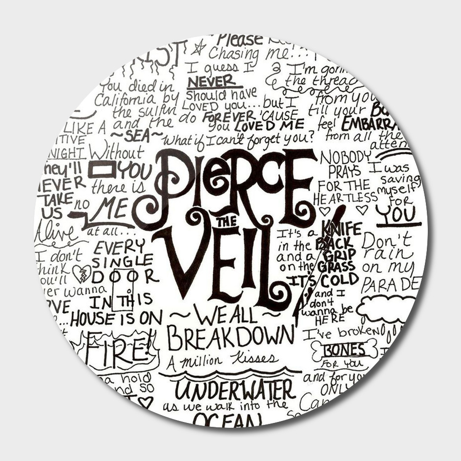 Pierce The Veil Music Band Group Fabric Art Cloth Pos