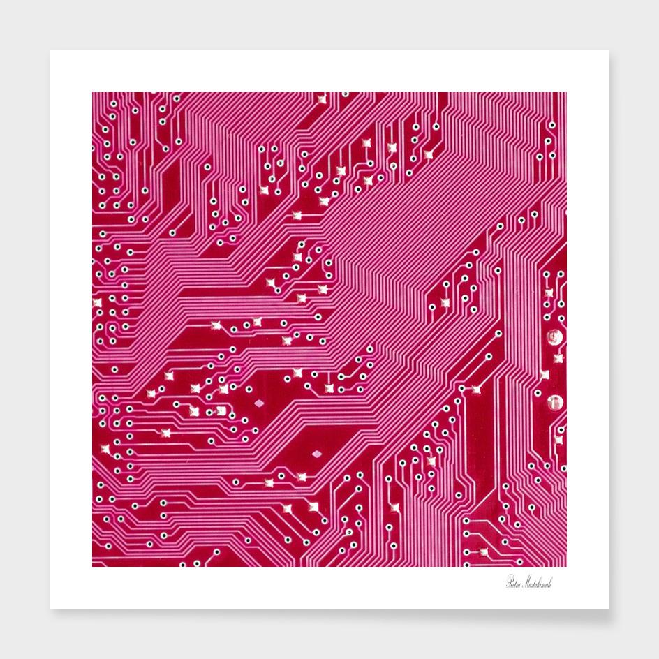 Pink Circuit Pattern