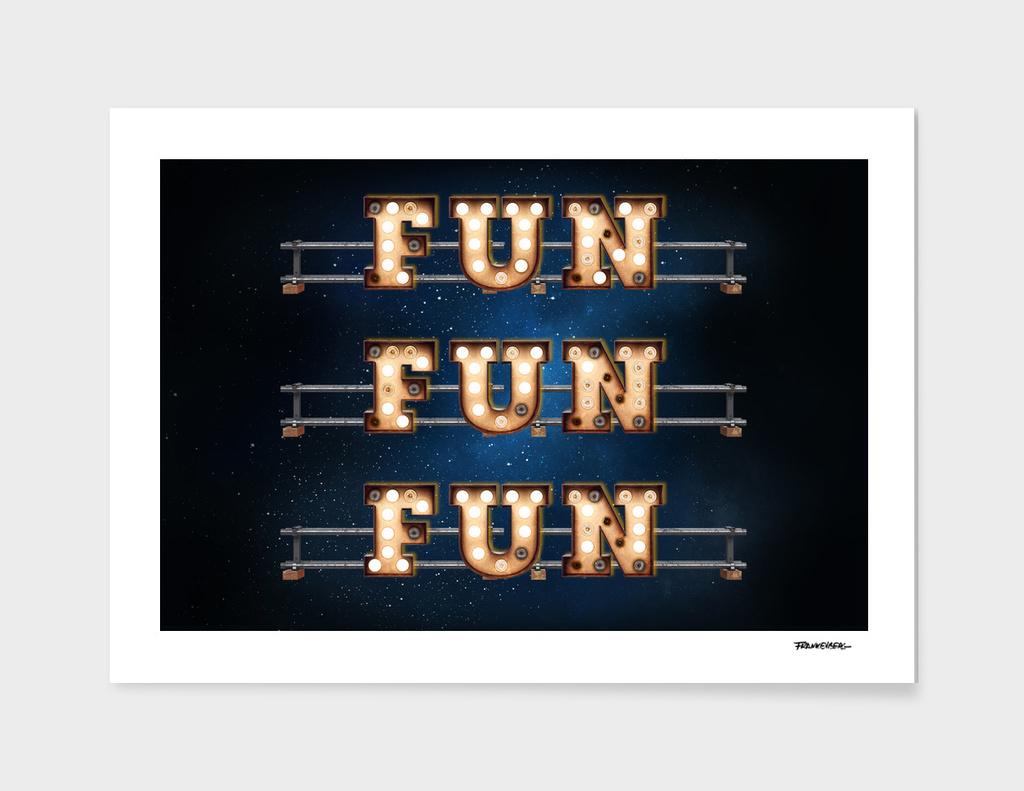 Fun Fun Fun -  Wall-Art for Hotel-Rooms