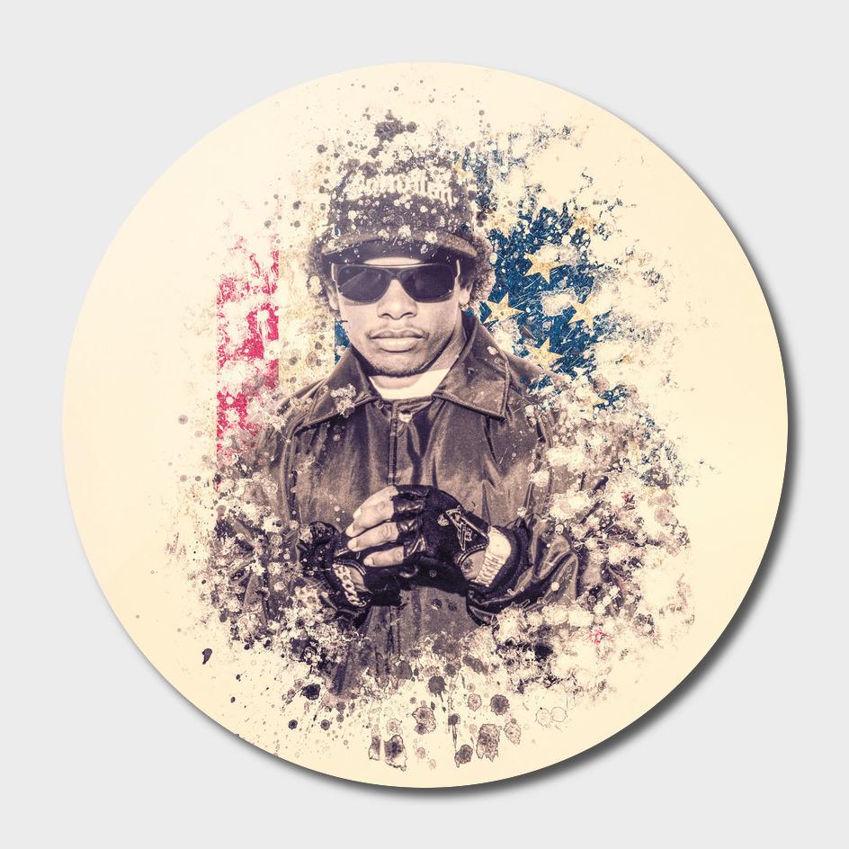 Eazy-E splatter painting