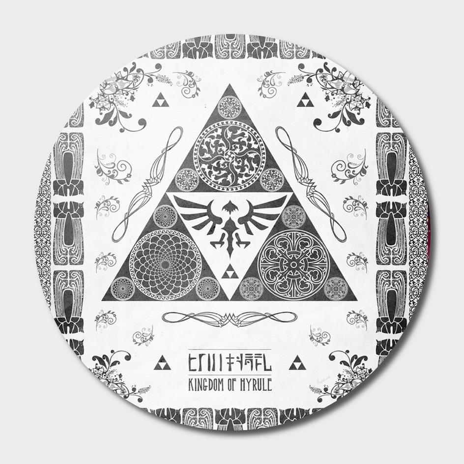 The Legend of Zelda Triforce of Hyrule Letterpress